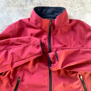 L.L. BEAN red zip-up soft shell jacket